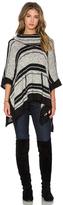 Splendid Sonoran Stripe Loose Knit Poncho