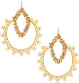 Devon Leigh Large Cluster-Chain Hoop Earrings