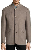 Haight And Ashbury Wool-Blend Stand Collar Jacket