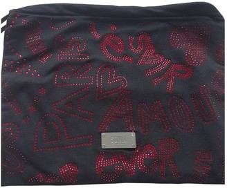 Sonia Rykiel Sonia By Black Cotton Clutch bags