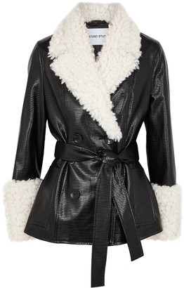 Stand Studio Harmony black faux leather jacket