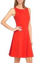 Tahari Seamed Knit Fit & Flare Dress