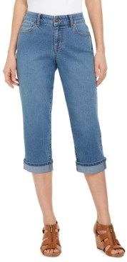 Style&Co. Style & Co Curvy Cuffed Capri Jeans, Created for Macy's