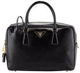 Prada Saffiano Vernice TV Bag, Black