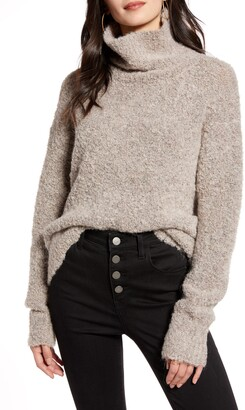 Treasure & Bond Boucle Funnel Neck Pullover