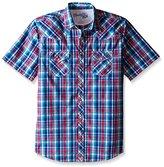 Wrangler Men's Tall Size 20x Short Sleeve Snap Woven Shirt