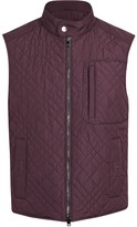 Pal Zileri Burgundy Quilted Shell Gilet