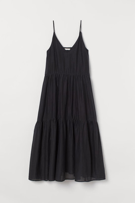 H&M Long Sleeveless Dress - Black