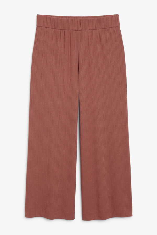 Thumbnail for your product : Monki Wide ribbed trousers