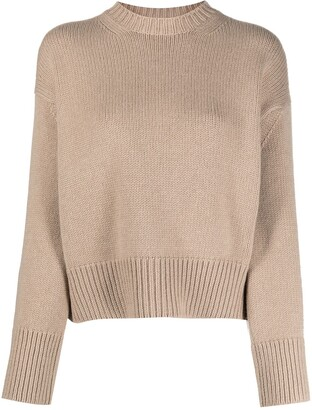 Ralph Lauren Purple Label Crew-Neck Intarsia Knit Jumper