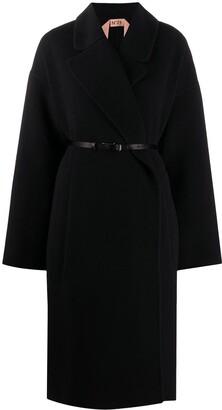 No.21 Oversize Belt-Fastening Coat