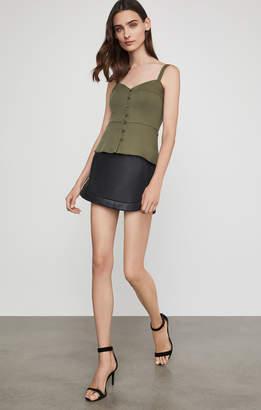 BCBGMAXAZRIA Kanya Faux-Leather Miniskirt