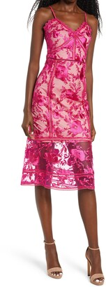Lulus Deeply Cherished Floral Embroidery Body-Con Dress