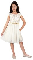 Blush by Us Angels Girl's Glitter Lace Skater Dress