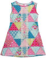 Rare Editions Girls Geometric-Print Knit Dress