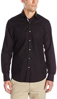 Stone Rose Men's Long Sleeve Waffle Texture Woven Shirt