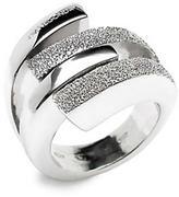 Twisty Diamond-Cut Silver Ring