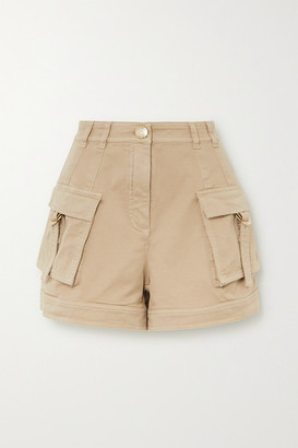 Balmain Cotton-blend Drill Shorts - Beige