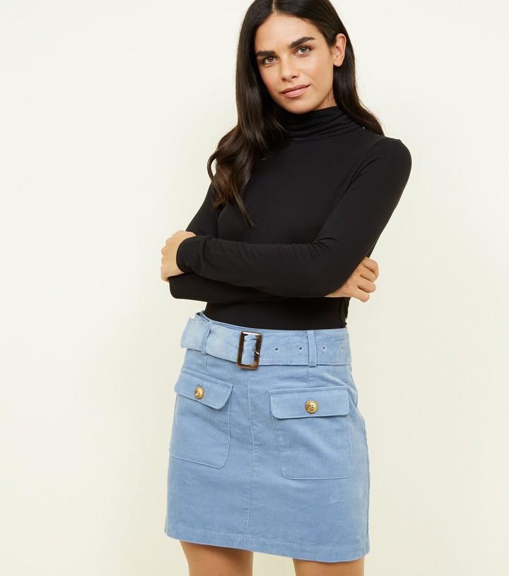 New Look Corduroy Belted Mini Skirt