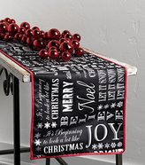Raz Merry Christmas Messages Chalkboard Style Table Runner, 72 X 14 Inches, Cotton