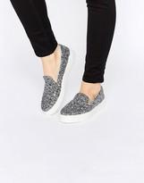 Asos DOODLE Slip On Sneakers