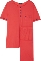 Cosabella Bella cotton and modal-blend pajama set