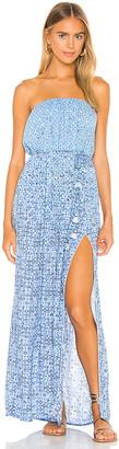 Poupette St Barth Mara Strapless Maxi Dress