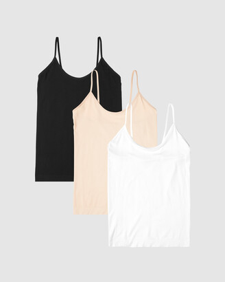 Boody Organic Bamboo Eco Wear - Women's Black T-Shirts & Singlets - 3-Pack Cami Top - Size One Size, S at The Iconic