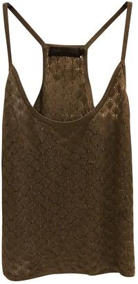 Zadig & Voltaire Khaki Silk Top for Women