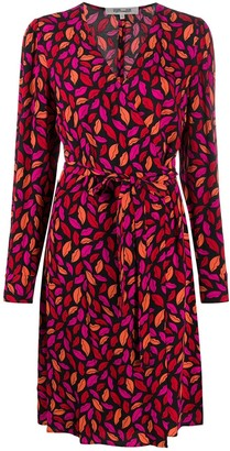 Dvf Diane Von Furstenberg Midnight Kiss tie-waist dress