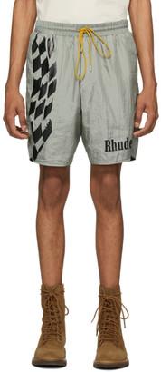 Rhude Silver Warm-Up Shorts