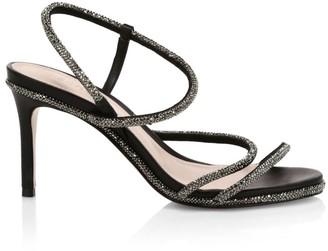 Schutz Twyla Fay Crystal-Embellished Leather Slingback Sandals