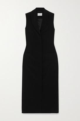 LA COLLECTION Patricia Silk-crepe Midi Dress - Black