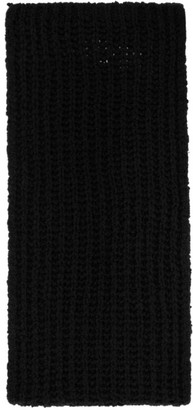 Rick Owens Black Knit Fisherman Scarf