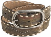 Roper Silk Screen Distressed Leather Belt (For Women)