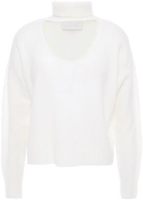 Mason by Michelle Mason Cutout Stretch-knit Turtleneck Sweater