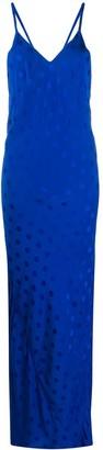 Haider Ackermann Polka-Dot Maxi Slip Dress