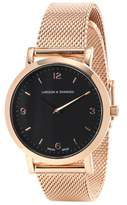 Larsson & Jennings Lugano 33mm rose gold-plated watch