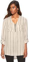 Apt. 9 Women's Chiffon Zipper-Accent Tunic