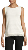 Tommy Hilfiger Fringe-Hem Sleeveless Top