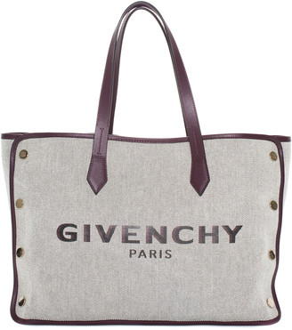 Givenchy Grey & Wine Canvas Bond Tote, Never Carried