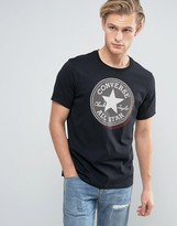 Converse T-Shirt With Large Logo in Black 10003386-A01