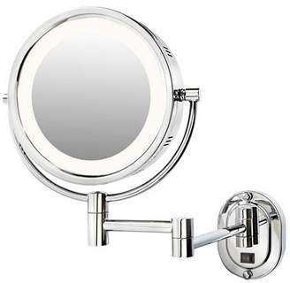 """The Jerdon HL65CD 8"""" Lighted Wall Mount Direct Wire Makeup Mirror Bedding"""