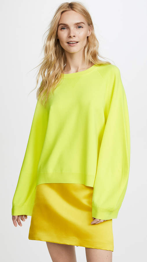 ADAM by Adam Lippes Double Face Sweater with Balloon Sleeves
