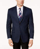 Michael Kors Men's Classic-Fit Blue and Black Plaid Sport Coat