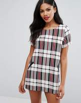 Girls On Film Check Shift Dress