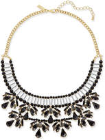 INC International Concepts I.N.C. Two-Tone Jet Stone and Bead Statement Necklace, Created for Macy's
