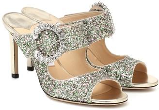 Jimmy Choo Saf 85 embellished glitter sandals
