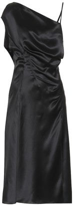 Versace Asymmetrical silk-satin dress