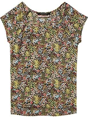Scotch & Soda Maison Women's Short Sleeve Top with Special Stitch Detail Blouse,X-Small